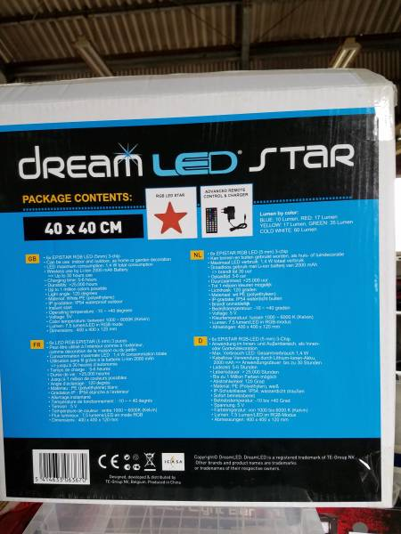 LED DREAM STAR Color Changing Accessory 40×40_画像3