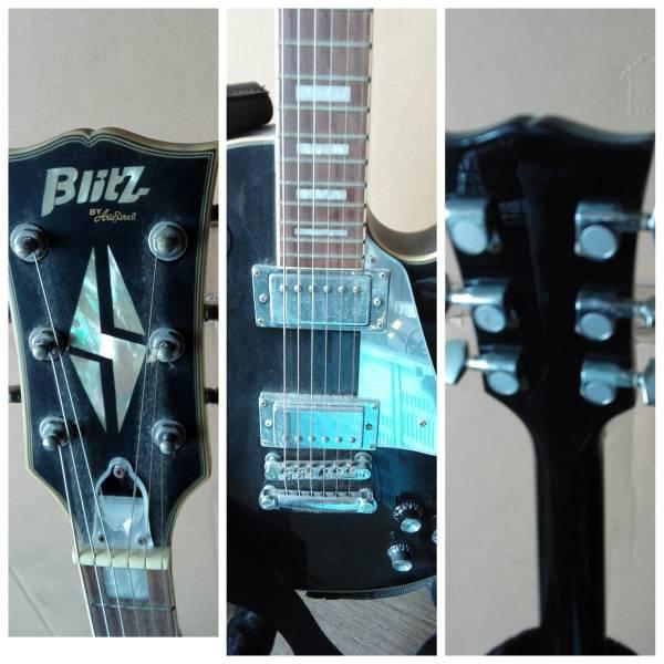 ARIA PRO II エレキギター Blitz スタンド付き_画像3