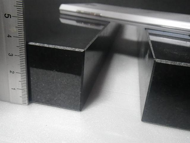 〇超重厚インド黒御影石オーディオボードウエイト49.5*33.5*4★クンナム★6面磨き2枚A→_画像4