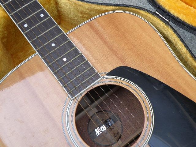 Morris MV-701 モーリス ギター アコースティックギター ハードケース付_画像6