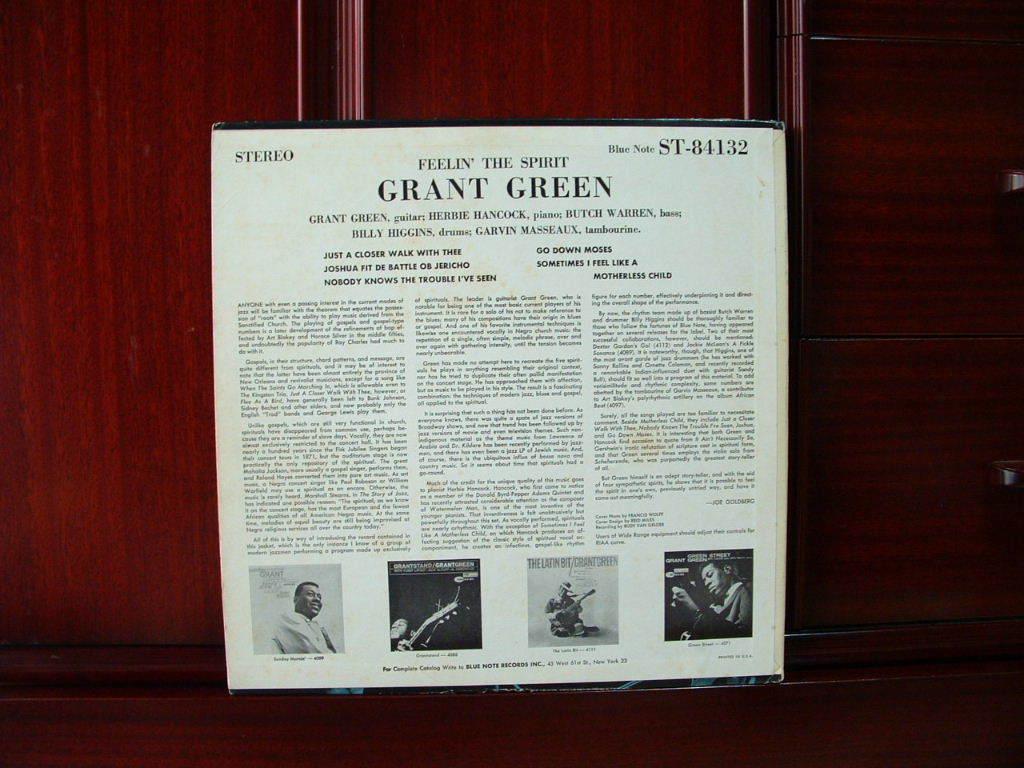【激レア極美盤NM】GRANT GREEN / Feelin' The Spirit (NY,Van Gelder,Herbie Hancock,Blue Note)_画像2