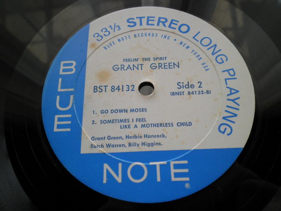 【激レア極美盤NM】GRANT GREEN / Feelin' The Spirit (NY,Van Gelder,Herbie Hancock,Blue Note)_画像4