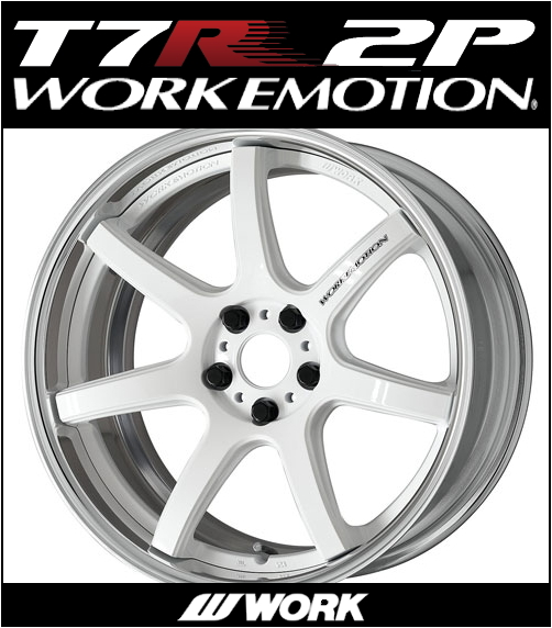 【1本価格】WORK EMOTION T7R 2P 19X10J 5H-100(WHT)_画像1